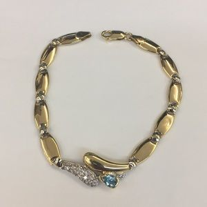 Jewelry - 18k Two Tone Gold Bracelet With Cz/Color 💎